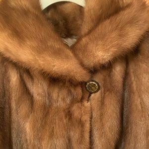 Jackets & Blazers - Mink Coat (ruffled hem)